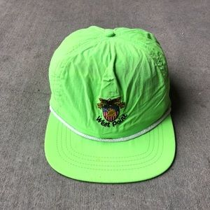 Men's lime green hat West Point, military Academy